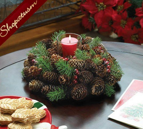Fresh Pine Centerpiece For Holiday__16