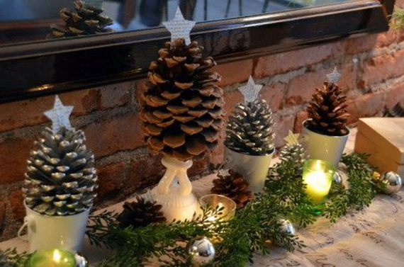 Fresh Pine Centerpiece For Holiday__24