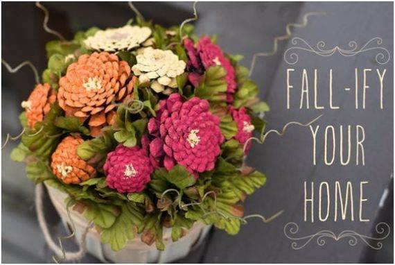 painted-pine-cone-crafts-for-thanksgiving-holiday-1