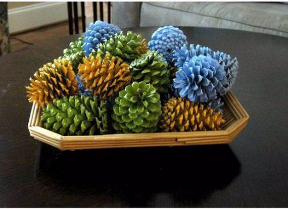 painted-pine-cone-crafts-for-thanksgiving-holiday-11