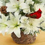 Traditional Christmas Gift Basket Idea