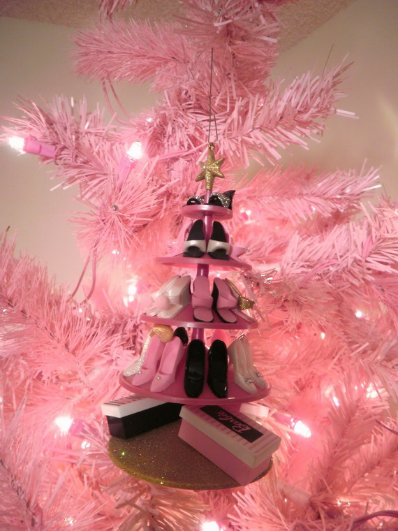 Barbie Christmas Tree Decorations.A Holiday Barbie Themed Christmas Tree Family Holiday Net