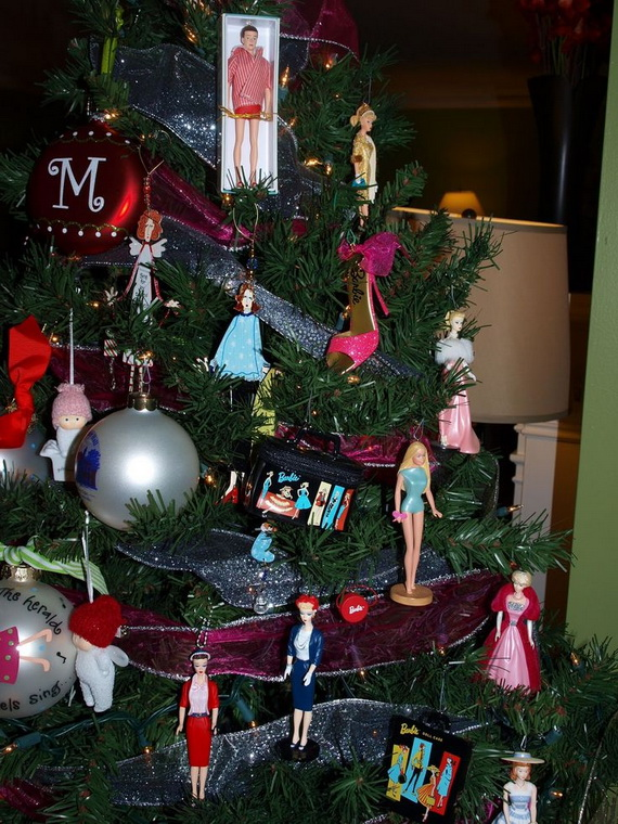 A Holiday Barbie Themed Christmas Tree_12