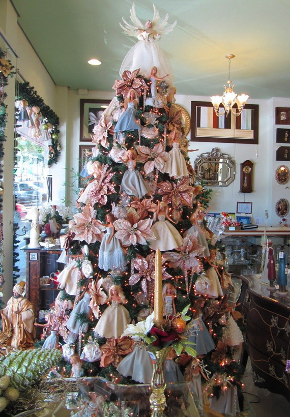 A Holiday Barbie Themed Christmas Tree_16