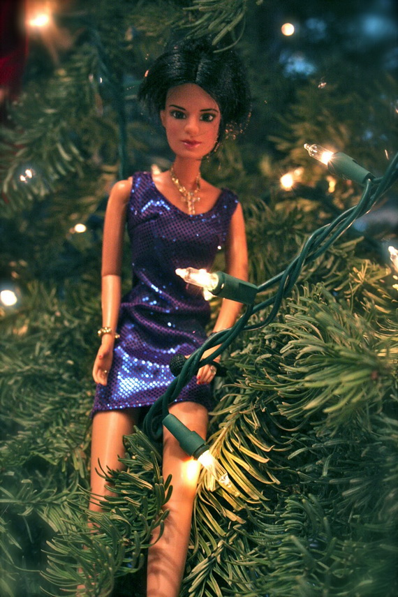 A Holiday Barbie Themed Christmas Tree_23