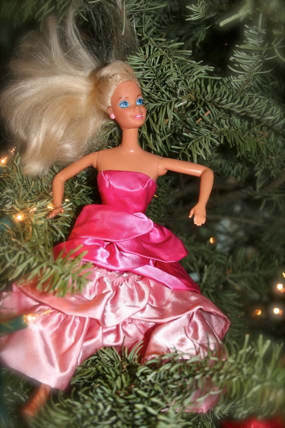 A Holiday Barbie Themed Christmas Tree_26