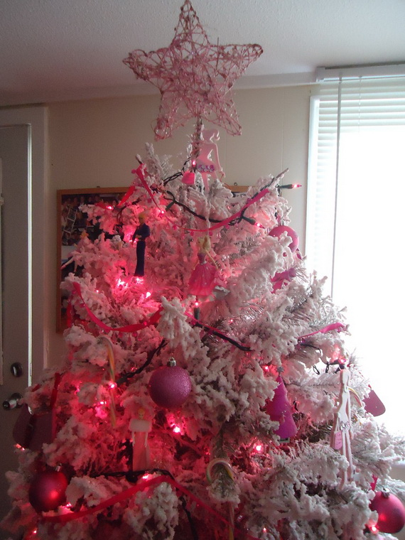 A Holiday Barbie Themed Christmas Tree_40