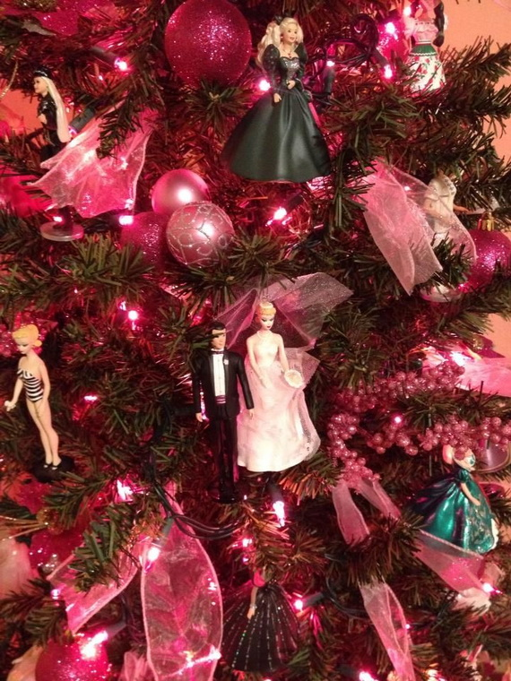 A Holiday Barbie Themed Christmas Tree_42