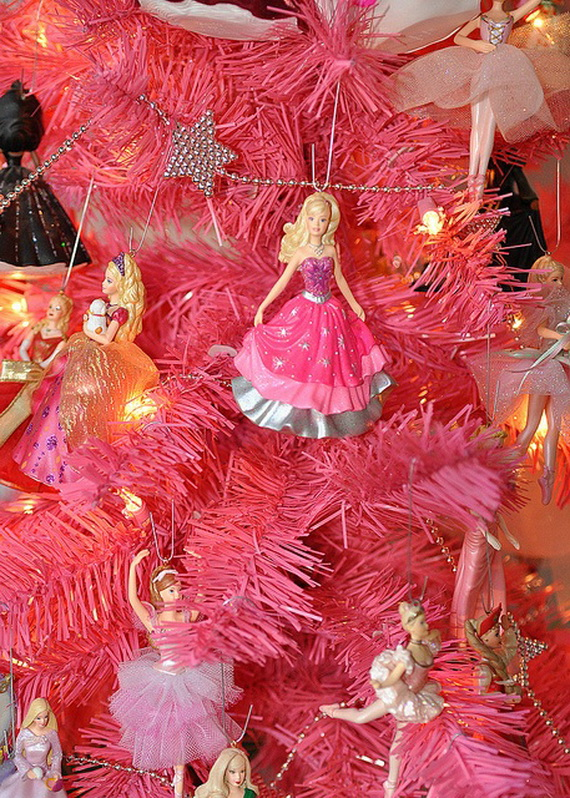 A Holiday Barbie Themed Christmas Tree_43