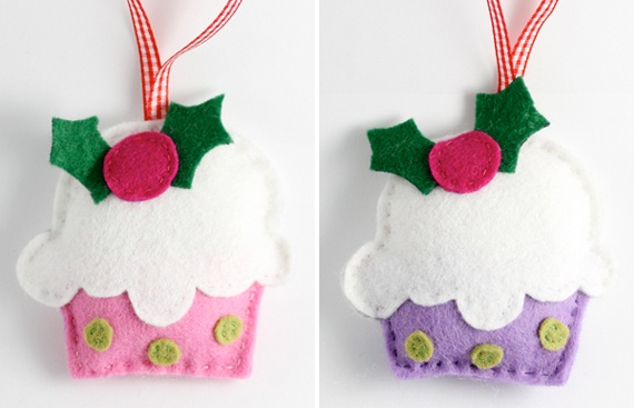 Gorgeous Christmas Cupcake Ornaments Decorations for Holidays _01