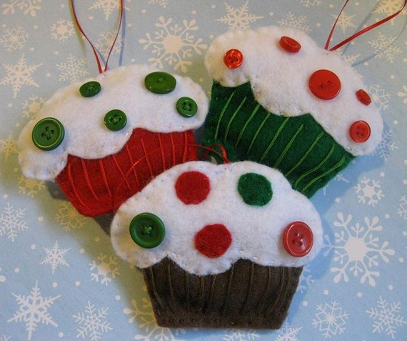 Gorgeous Christmas Cupcake Ornaments Decorations for Holidays _06