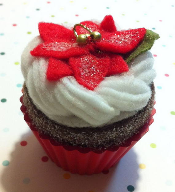 Gorgeous Christmas Cupcake Ornaments Decorations for Holidays _07