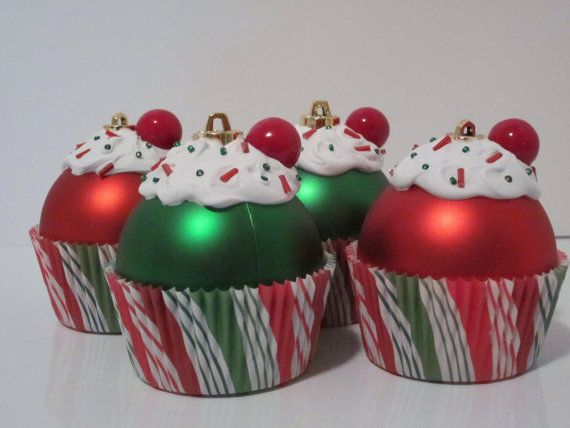 Gorgeous Christmas Cupcake Ornaments Decorations for Holidays _08