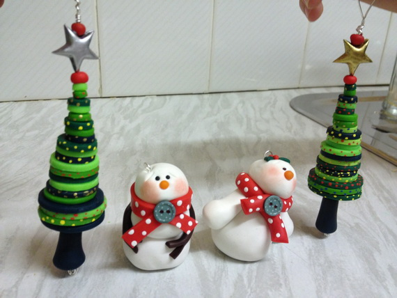Handmade Polymer clay Christmas Ornament Crafts for Holidays _05