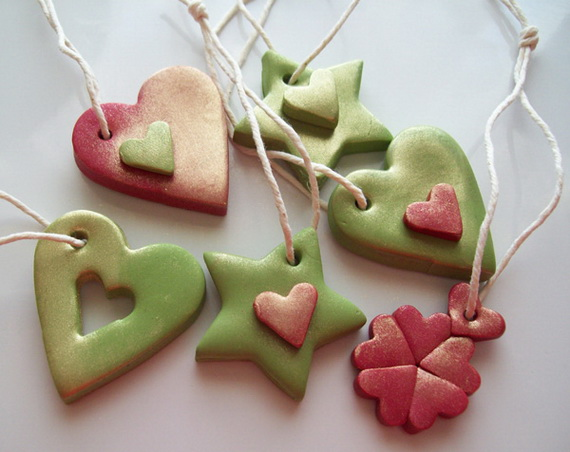 Handmade Polymer clay Christmas Ornament Crafts for Holidays _09