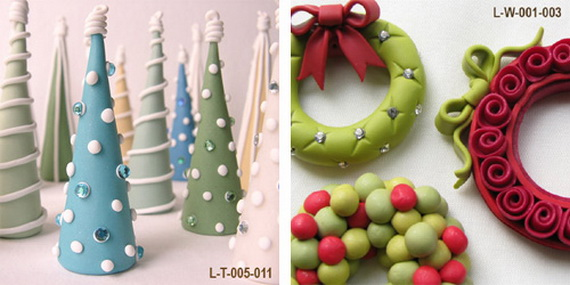 Handmade Polymer clay Christmas Ornament Crafts for Holidays _11