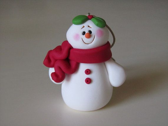 Polymer Clay Snowman for   Christmas Holiday_04