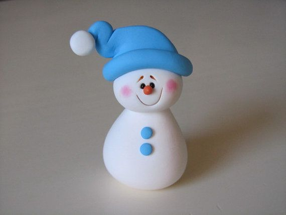 Polymer Clay Snowman for   Christmas Holiday_05