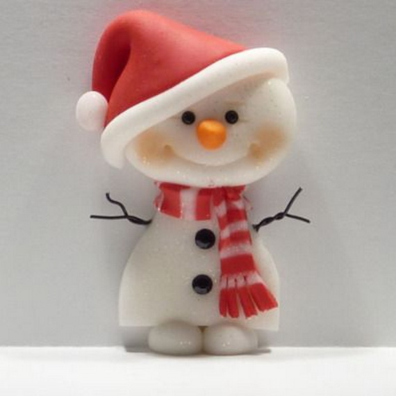 Polymer Clay Snowman for   Christmas Holiday_06