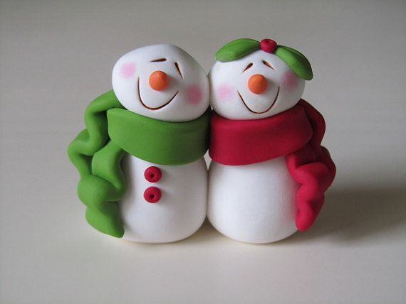 Polymer Clay Snowman for   Christmas Holiday_16