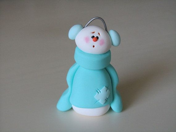 Polymer Clay Snowman for   Christmas Holiday_17