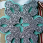 Glitter  Snowflake for Winter Decorations