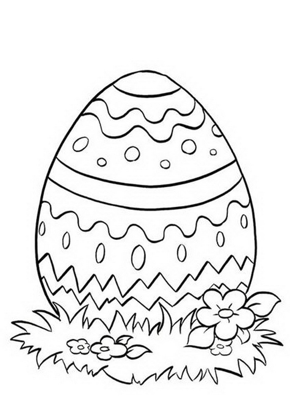 Easter Holiday Eggs Coloring Pages For Kids Family