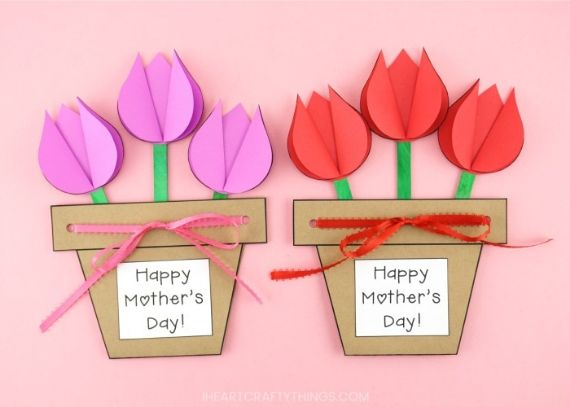 Mum From Son Adorable Water Can Mother/'s Day Handmade New Greeting Card