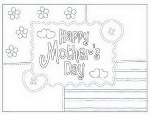 It is a graphic of Free Printable Coloring Mothers Day Cards throughout humor