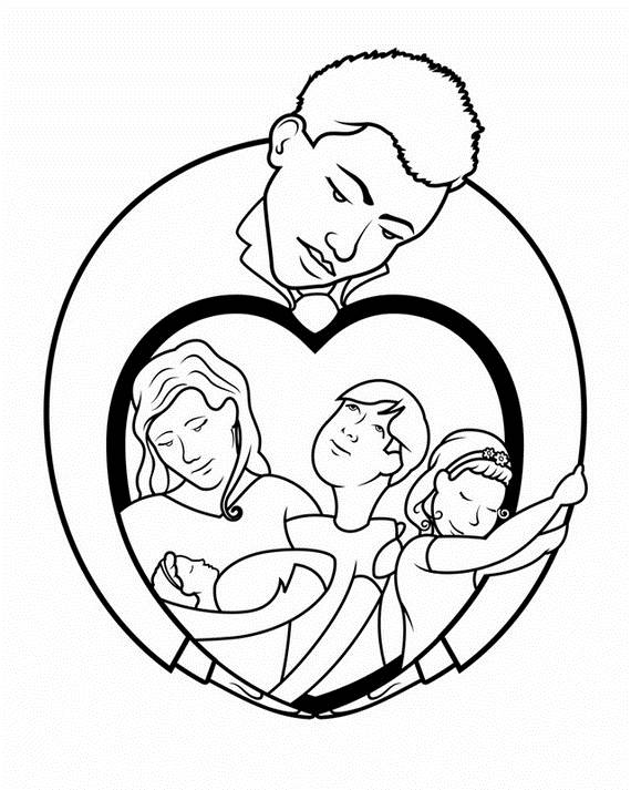 modern family coloring pages | Daddy Coloring Pages For Kids on Father's Day - family ...