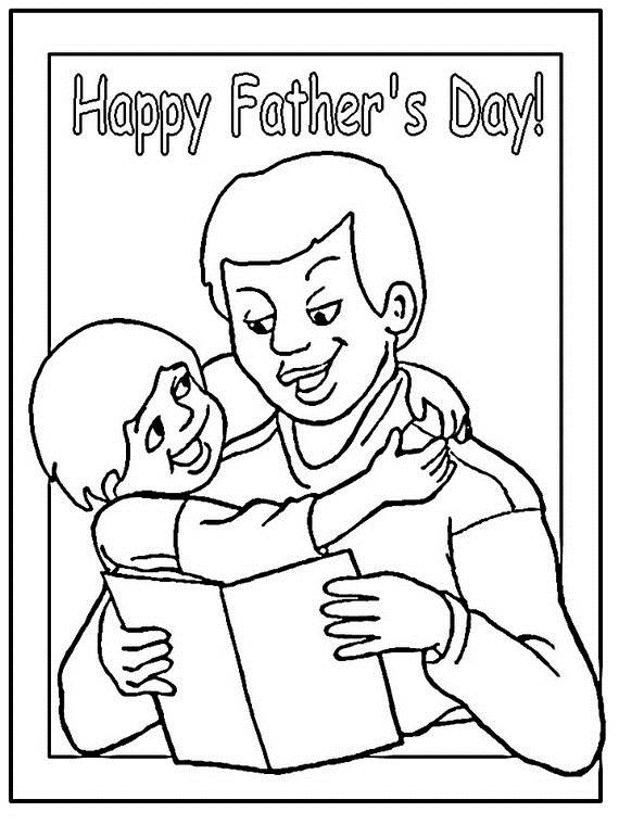 Happy Fathers Day Coloring Pages For The Holiday | family ...