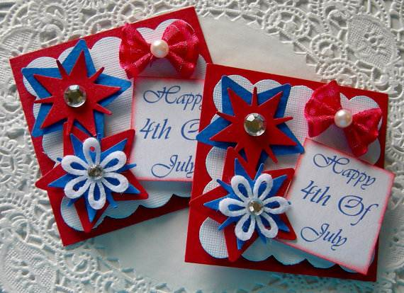 4th July Independence Day Homemade  Greeting Cards (15)
