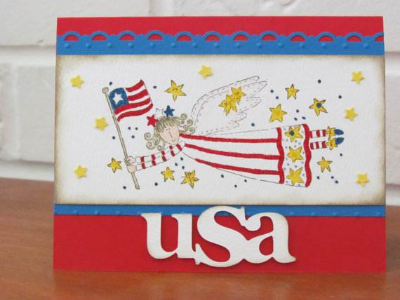 4th July Independence Day Homemade  Greeting Cards (30)