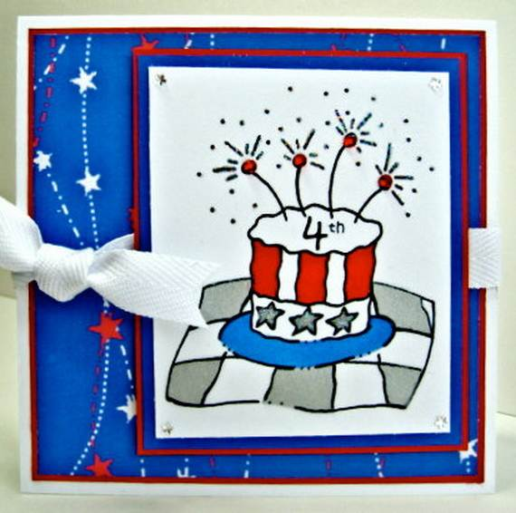 4th July Independence Day Homemade  Greeting Cards (40)