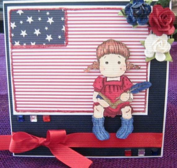 4th July Independence Day Homemade  Greeting Cards (48)