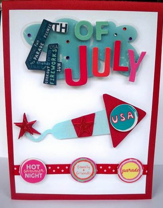 4th July Independence Day Homemade  Greeting Cards (59)