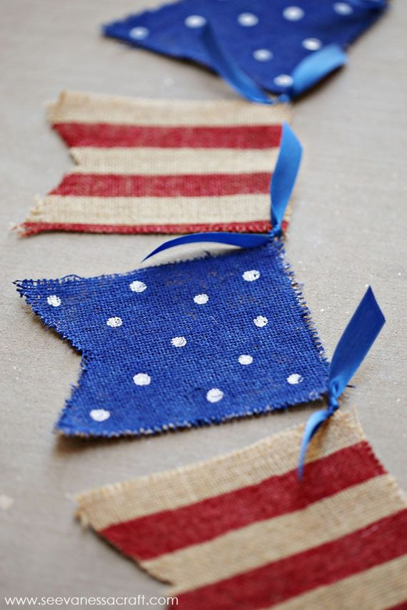 4th of July Painted Burlap Banner (1)