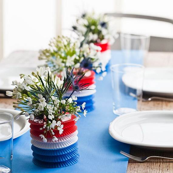 easy table decorations for 4th of july / independence day - family Table Decorations