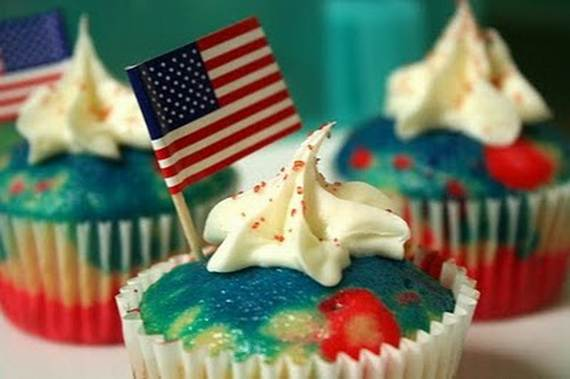 Independence Day Cakes & Cupcakes Decorating Ideas (35)