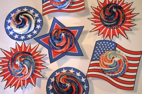 Independence Day Cakes & Cupcakes Decorating Ideas (41)