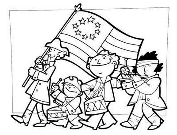 Independence Day Coloring Pages - July Fourth