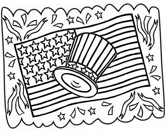 Independence Day Fourth Of July Coloring Pages For Kids