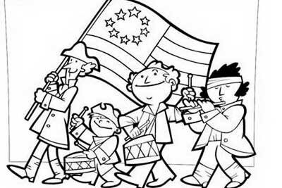 Independence Day Coloring Pages – July Fourth