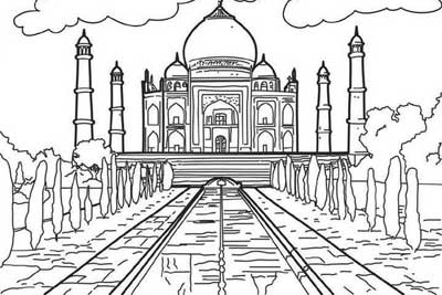 Coloring Pages For Ancient Wonders