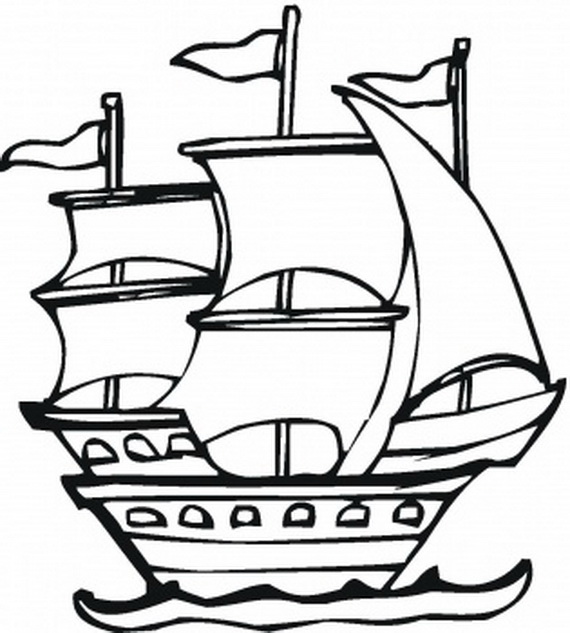Columbus Day Ships Coloring Pages - family holiday.net/guide ...