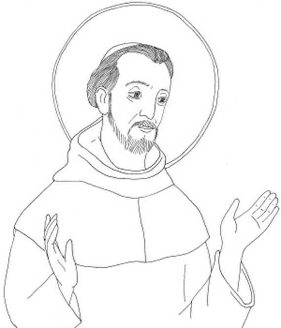 Catholic Saint Francis Xavier Coloring Page