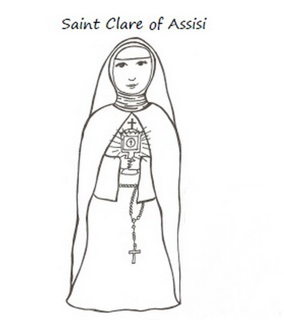 Catholic Saints and All Saint's Day Coloring Pages - family ...