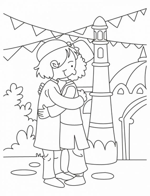 Eid Coloring Page For Kids 70