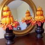 ELEGANT PUMPKIN TOPIARIES DECORATING IDEAS
