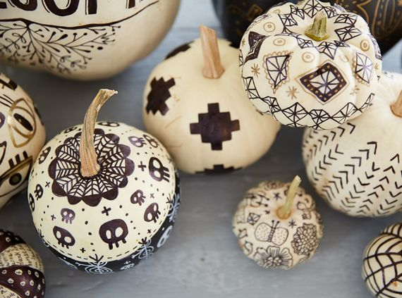 DIY Monochromatic Pumpkins